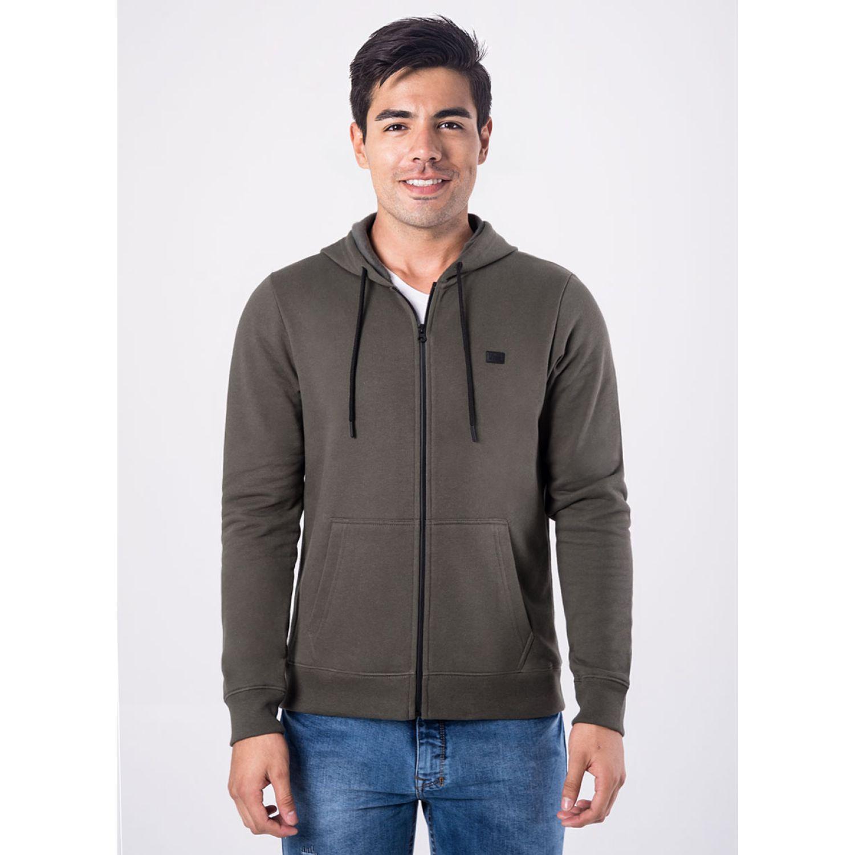PIONIER POLERA FRANELA C/CAP REG FIT BLAI VERDE MILITAR Hoodies y Sweaters Fashion