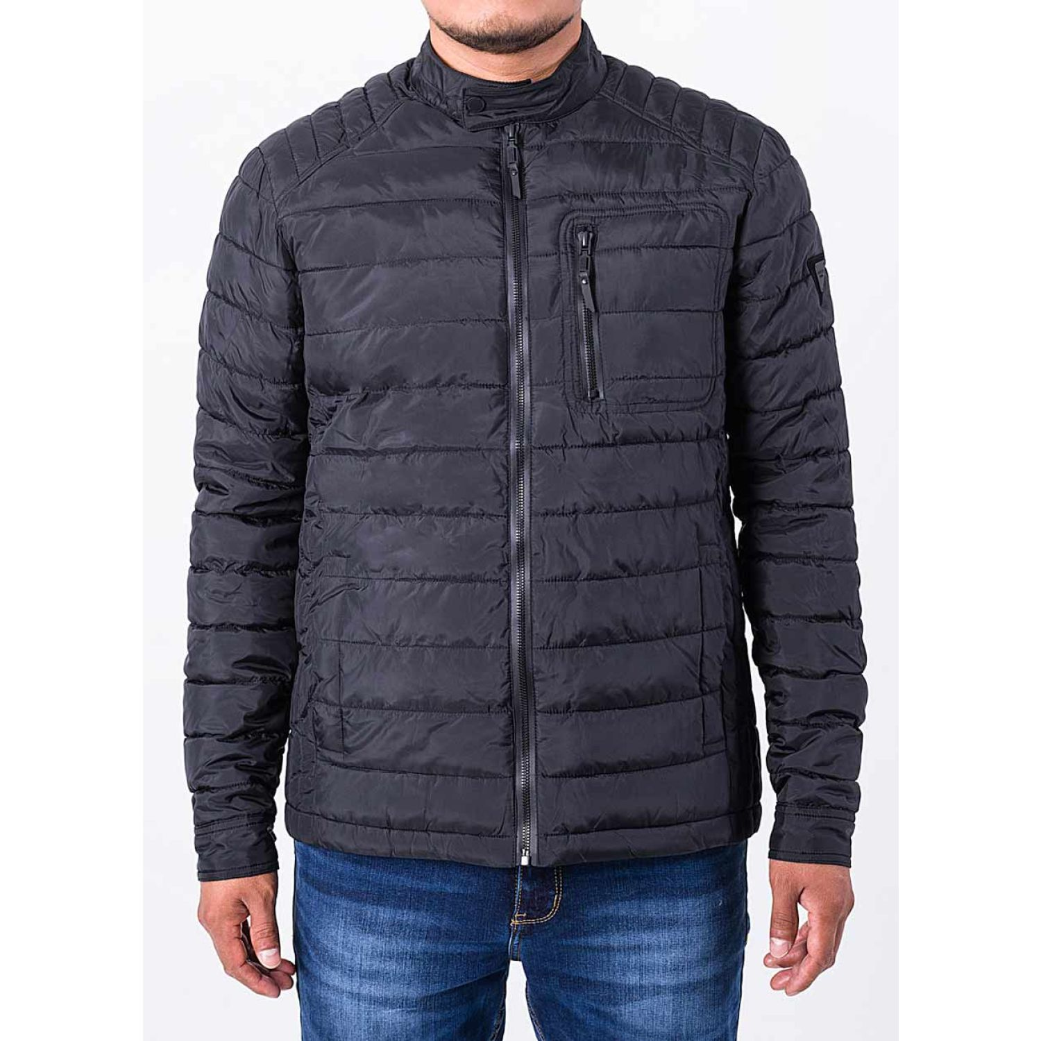 PIONIER Casaca Impermeable C/F Winds Negro Denim