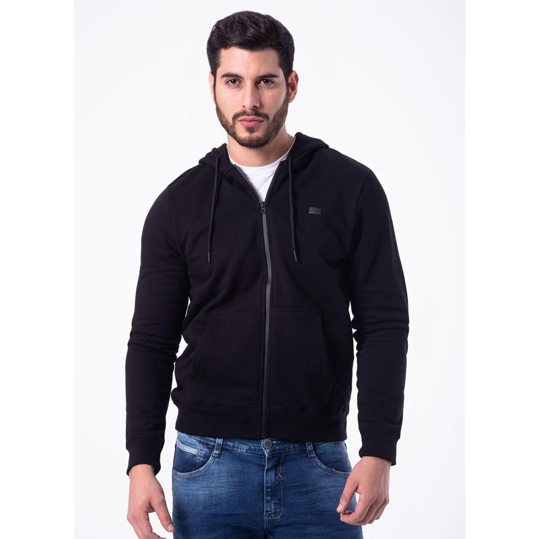 PIONIER POLERA FRANELA C/CAP REG FIT BLAI Negro Hoodies y Sweaters Fashion
