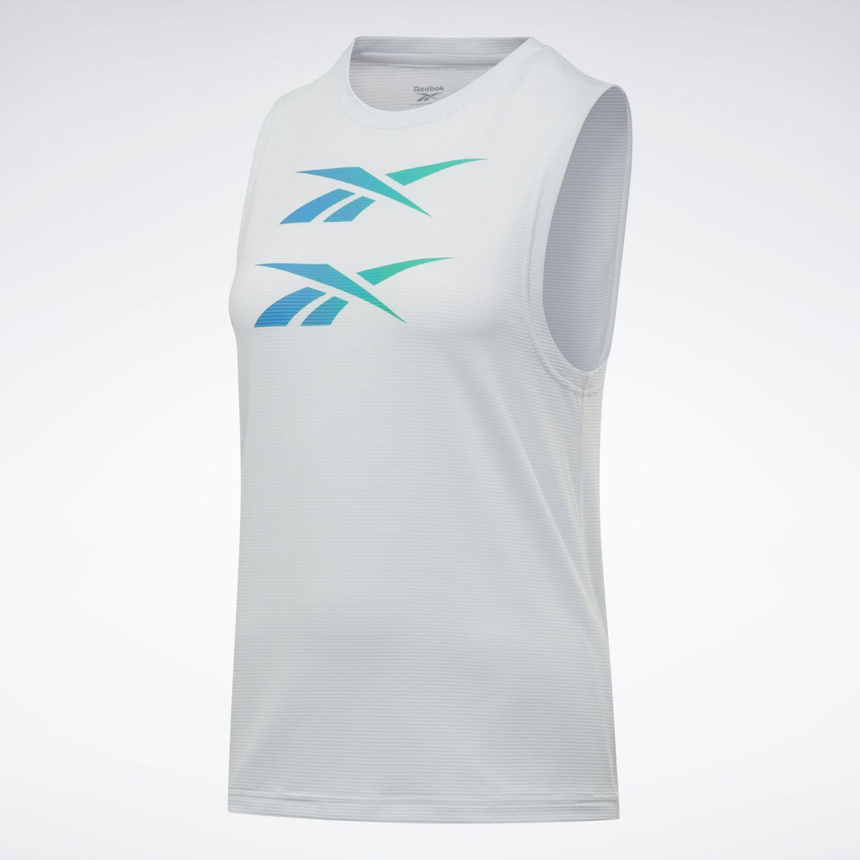 Reebok Mesh Tank (Ree)Cycled Blanco Camiseta sin mangas