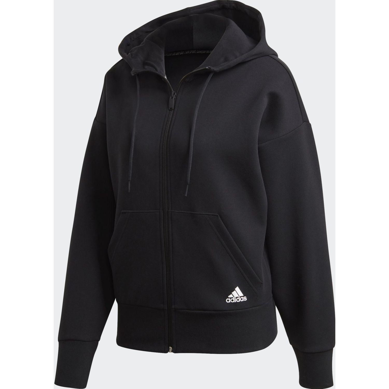Adidas W 3s Dk Fz S Hd Negro / blanco Casacas deportivas