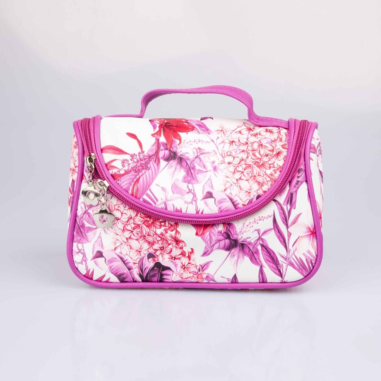 BE SIFRAH Portacosmetico Zoe Blanco / rosado Cosmetiqueras