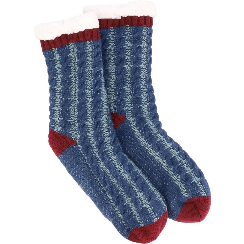 Casaideas Calcetas Tejidas M Azules Azul / rojo Calcetines