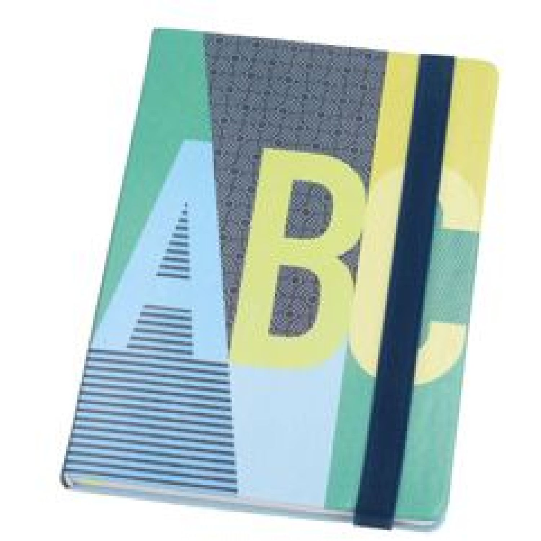 Casaideas Libreta Tapa PU 15x21 cms. Azul / verde Cuadernos Steno