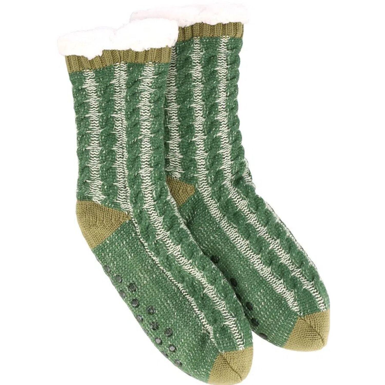 Casaideas Calcetas Tejidas M Verdes Verde / gris Calcetines
