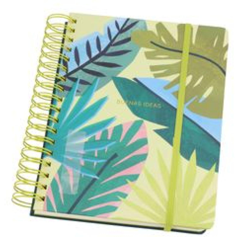 Casaideas Cuaderno 1/2 Oficio 18X24 cms. Verde Cuadernos Wirebound