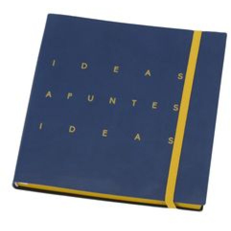 Casaideas Libreta PU Cuadrada 15x15 cms. Azul Cuadernos Steno