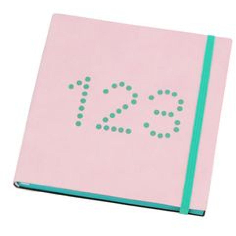Casaideas Libreta PU Cuadrada 15x15 cms. Rosado Cuadernos Steno