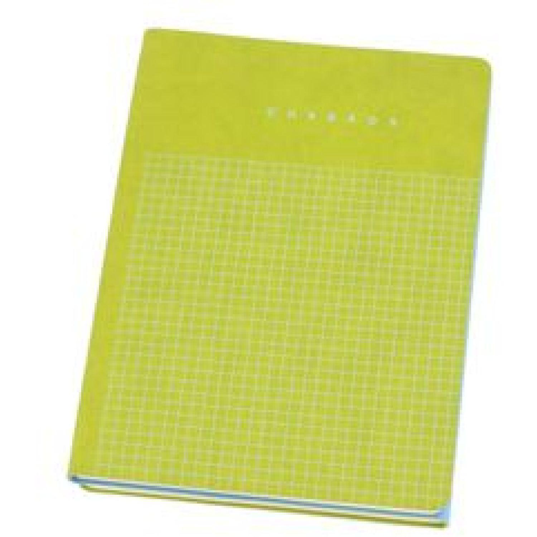 Casaideas Libreta Doble Tapa PU 15x21 cms. Celeste / verde Cuadernos Steno