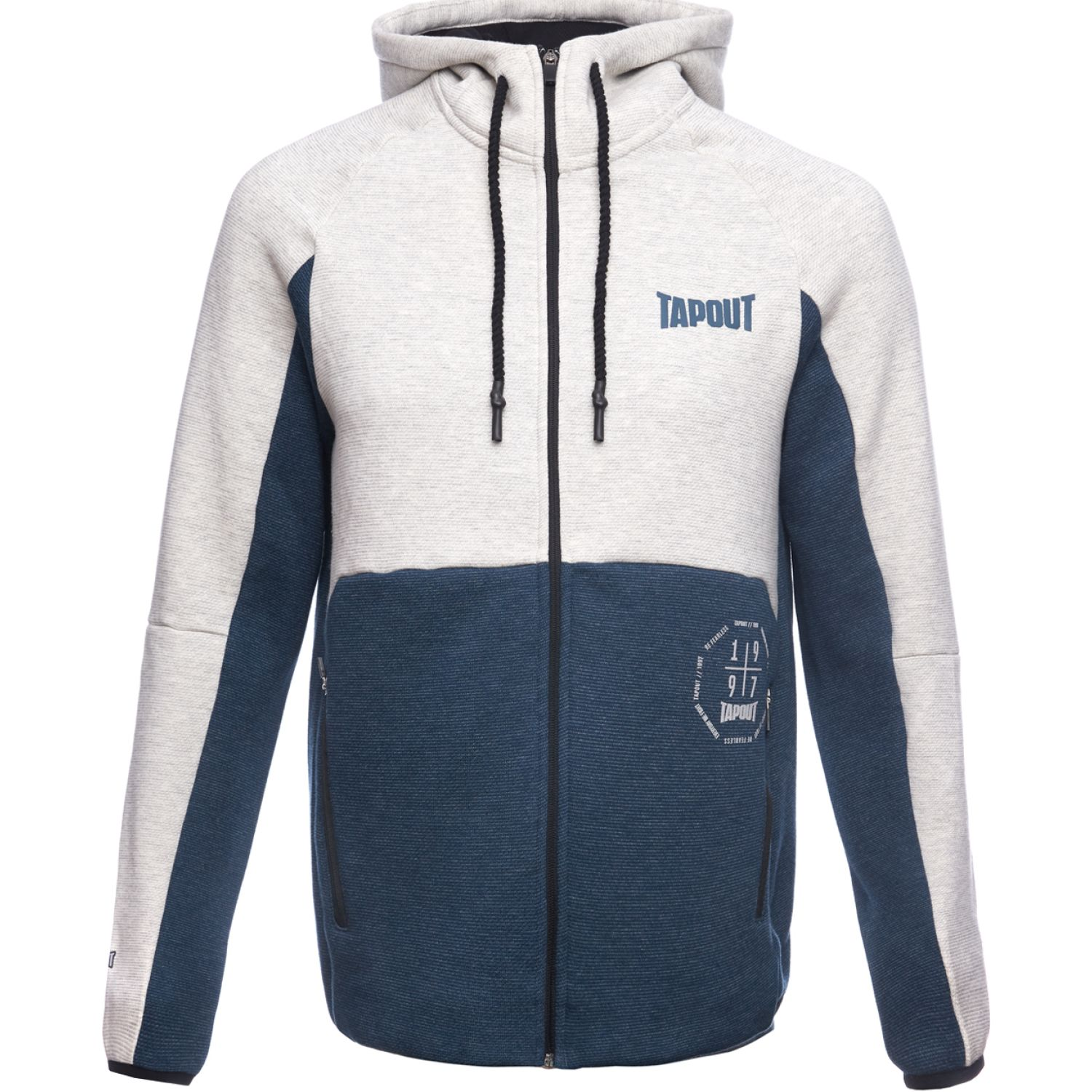 TAPOUT POLERA CASUAL TYRELL ALGODÓN Azul Hoodies y Sweaters Fashion