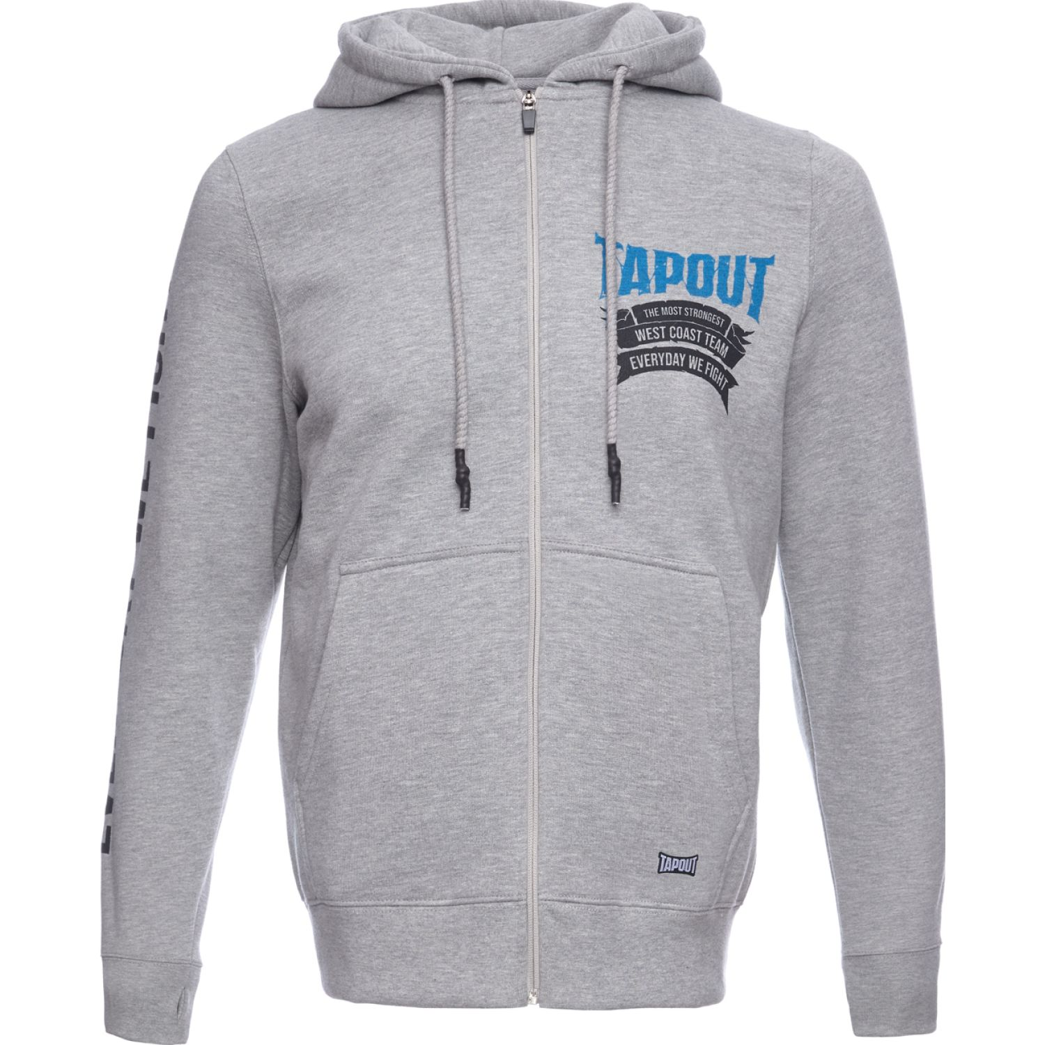 TAPOUT POLERA CASUAL STRONGEST ALGODÓN Gris Hoodies y Sweaters Fashion