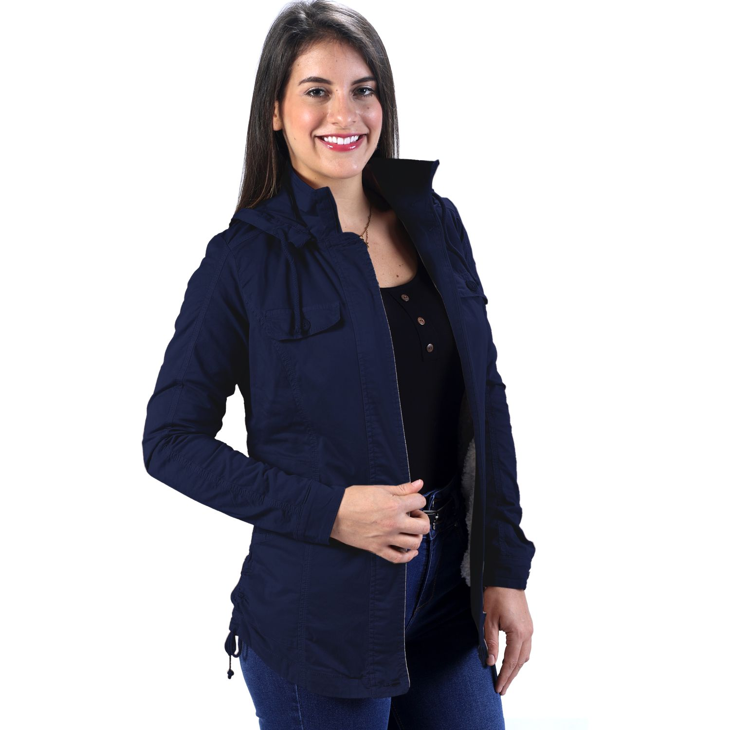 FORDAN JEANS Campera 0500 C/Capucha-Forro BLUE NAVY Parkas