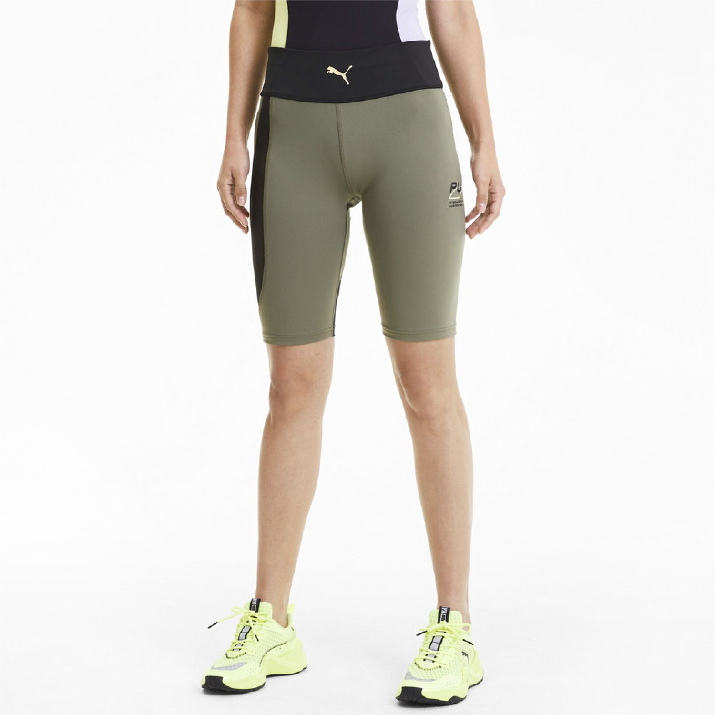 Puma Evide Highwaist Short Tight Verde / negro Leggings deportivos