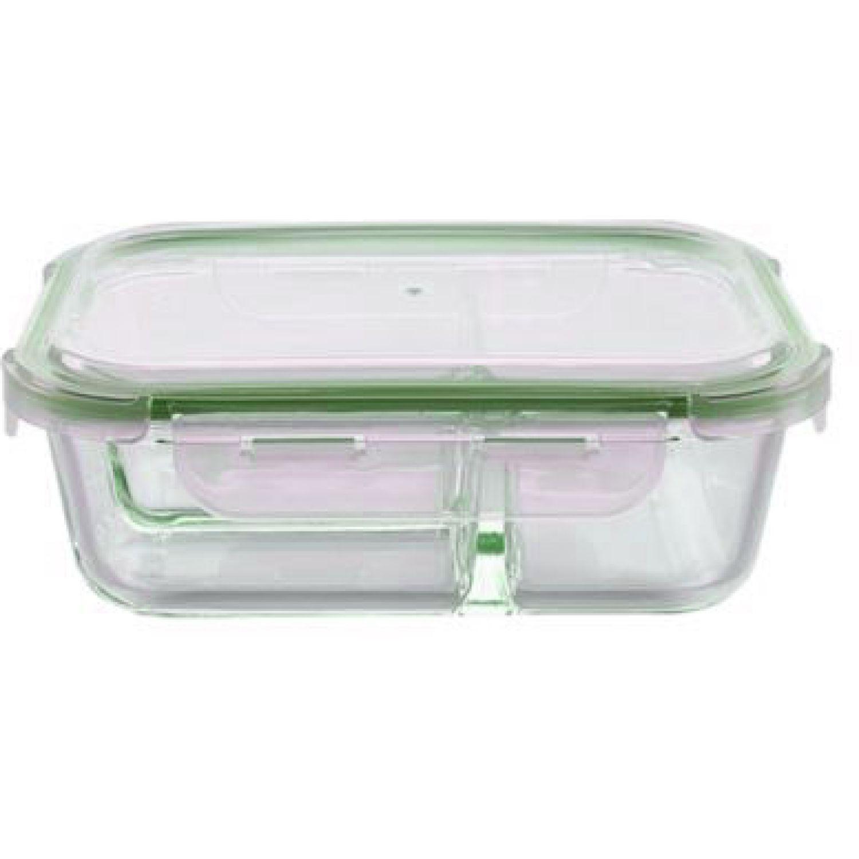 ICHIMATSU Taper Borosilicato 1 Lt C/2 Divisiones Transparente Sets de almacenamiento y organización de alimentos