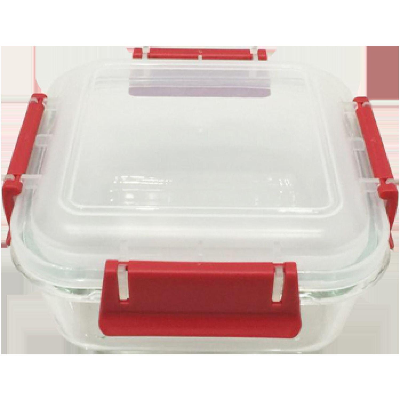 ICHIMATSU TAPER VIDRIO CUADRADO 0.70 LT ECO PLUS Rojo Protectores de alimentos y contenedores de almacenamiento