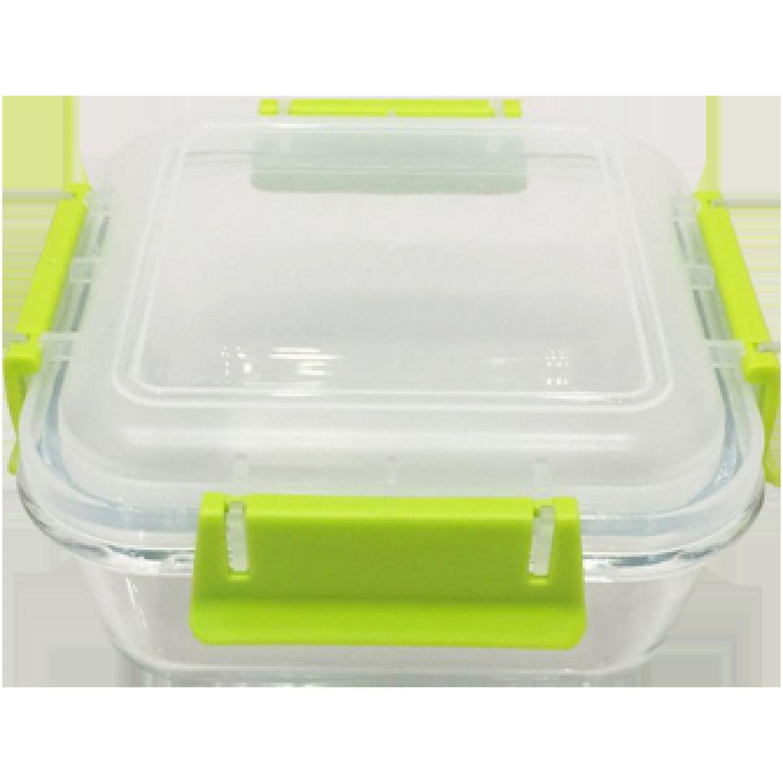 ICHIMATSU Taper Vidrio Cuadrado 0.70 Lt Eco Plus Verde Sets de Almacenamiento y Organización de Alimentos