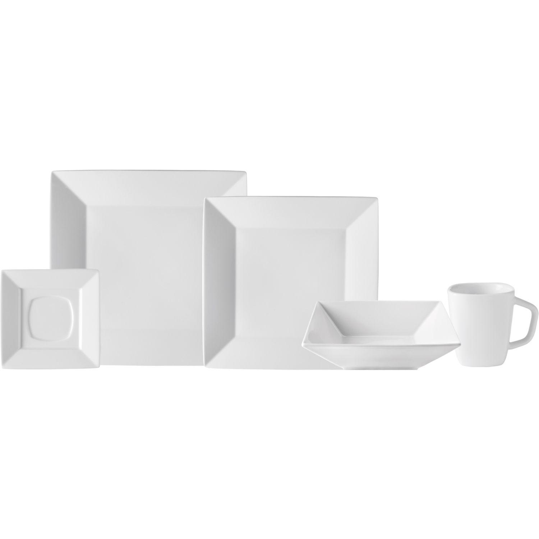 CORONA Vajilla 4/20 Cuadrado Zen Va1101040120 Blanco Juegos de vajilla