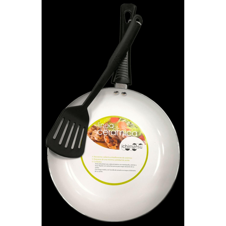 ICHIMATSU Sarten Al.T/Ceram.Negro # 20+esp Negro Sartenes para omelet