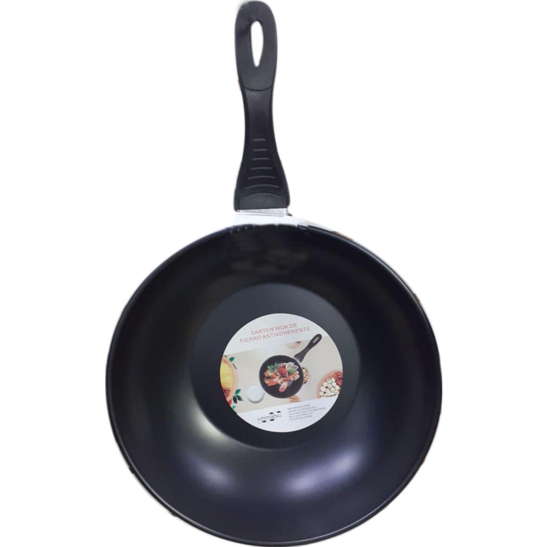 REMACH Sarten Wok Fierro Antiadh M/Bak 32 Cm Negro Woks y sartenes para saltear