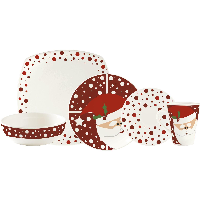 CORONA VAJILLA 4/20 CHRISTMAS Rojo / blanco Juegos de Vajilla