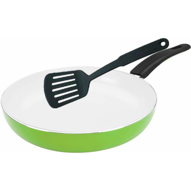 ICHIMATSU Sarten Al.T/Ceram.Verde # 26+esp Verde Sartenes para omelet