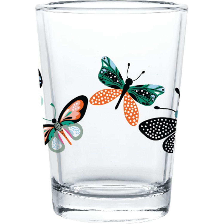 CRISTAR Vaso Can Herradura Bebida Dec Mariposa Varios Juegos de cristalería