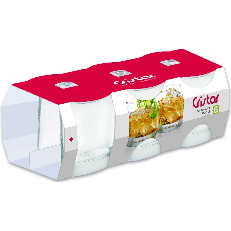 CRISTAR Vaso Can Liso Lex.Rocks X 6 0045cl6 Transparente Juegos de cristalería