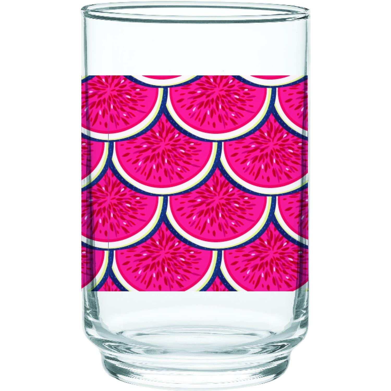 CRISTAR Vaso Can Alegro Bebida Dec Sandia Rojo Juegos de cristalería