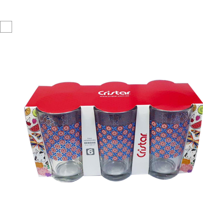 CRISTAR Vaso Can Herradura Bebida Dec. Flores Varios Juegos de cristalería