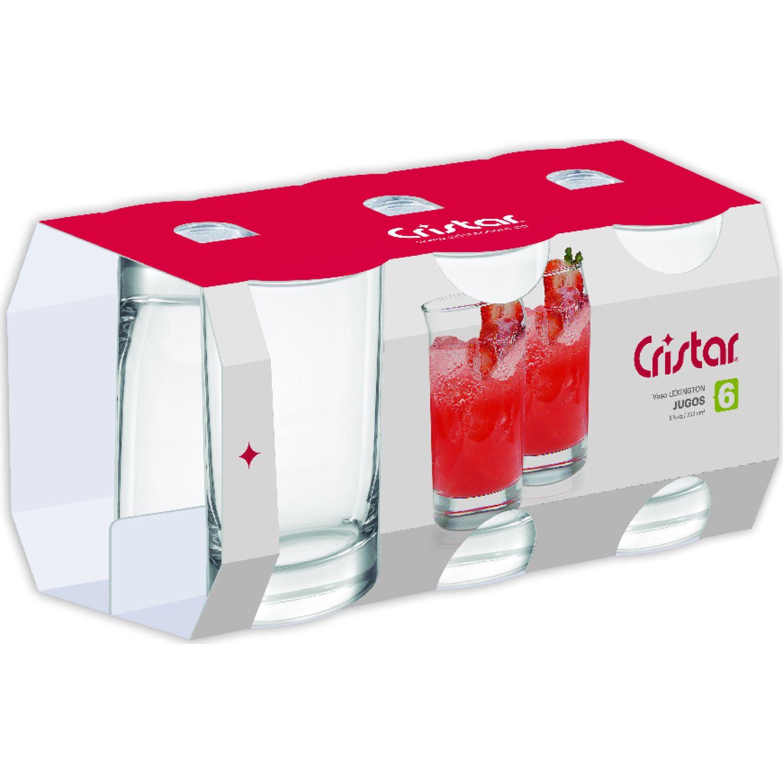 CRISTAR Vaso Can Liso Lex.Bebida X 6 0044cl6 Transparente Juegos de cristalería