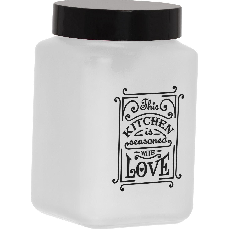 HEREVIN Frasco 1500 Cc Dec Coc/Amor 147015803 Transparente Frascos y Ollas de Alimentos