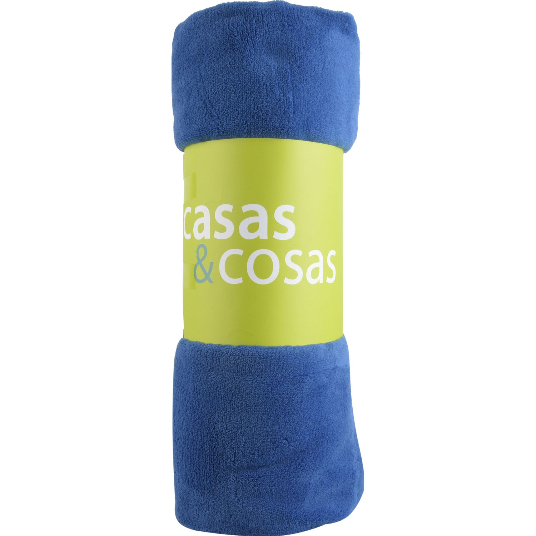 C&C Coral Fleece C&c Azul Azul Frazadas