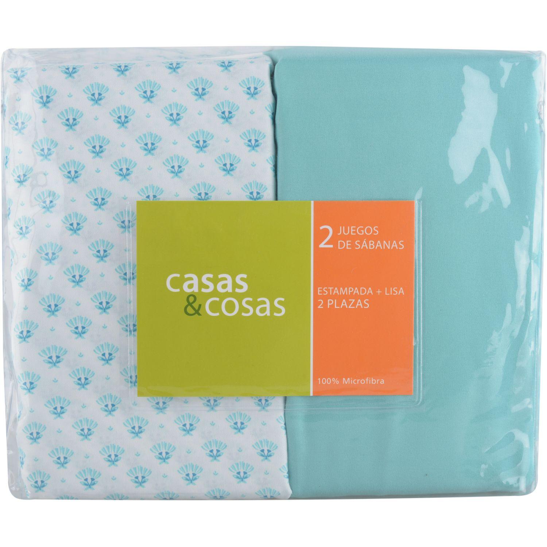 C&C 2pl Jgo Sabanas Mix & Match Flores MULTICOLOR Juegos de sábanas y fundas de almohada