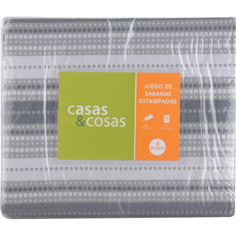C&C 2pl Jgo Sabanas  Est Lineas MULTICOLOR Juegos de sábanas y fundas de almohada