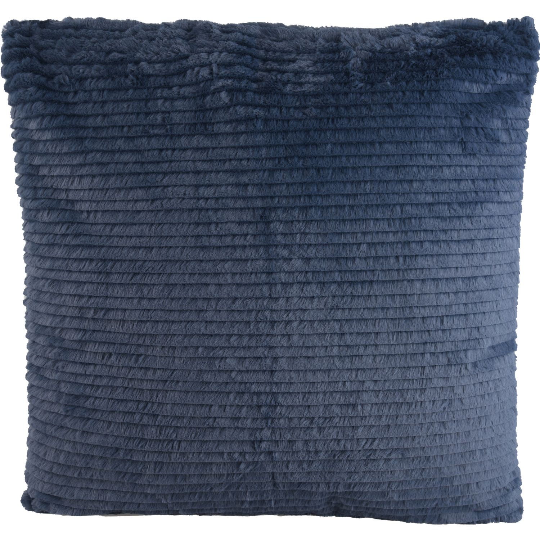 ALANIZ HOME Cojin Velvet Lineas Azul Azul Almohadas decorativas