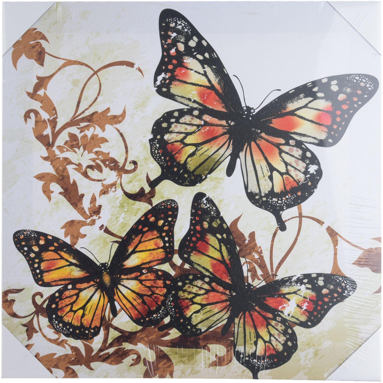ATTIMO Canva Mariposa 2 40x40 MULTICOLOR Pinturas