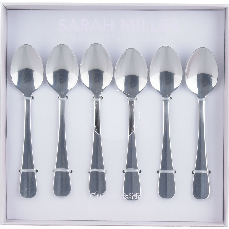 SARAH MILLER Set 6 Cucharas Te Plata Cucharitas