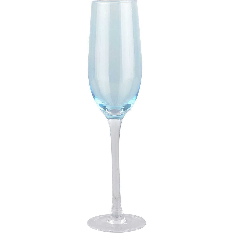 ATTIMO Set 4 Copas Champana Tonos Azules