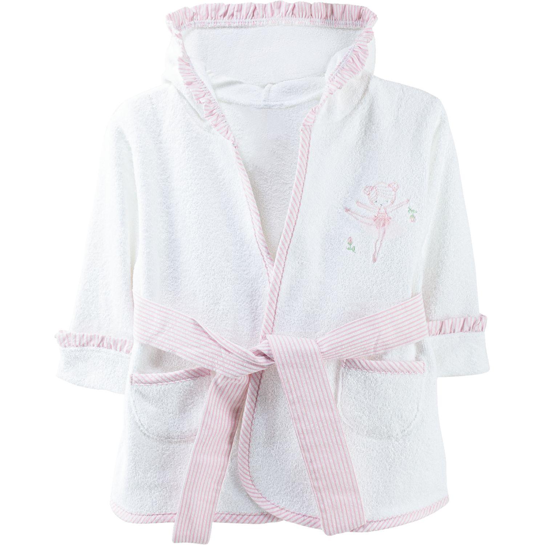 BABY CLUB CHIC Salida De Baño C Bord Ind Blanco / rosado Toallas de baño y con capucha