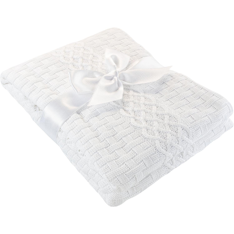 BABY CLUB CHIC Colcha Tejida Dubai Blanco Cobijas para cama