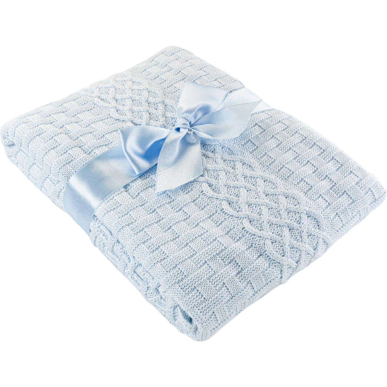 BABY CLUB CHIC Colcha Tejida Dubai Celeste Cobijas para cama
