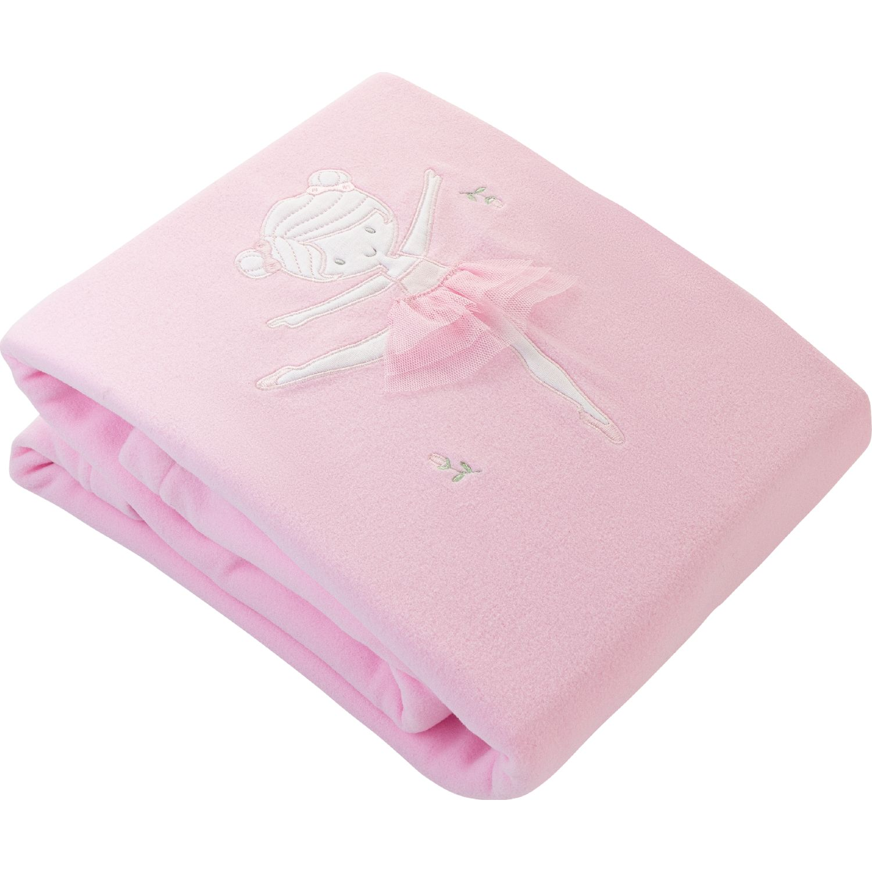 BABY CLUB CHIC Frazada Polar C Tela Blanco / rosado Cobijas para niños