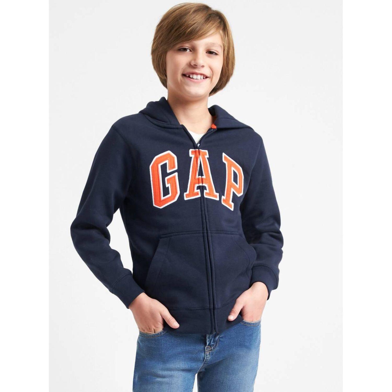 GAP Polerón Logo Niño Azul oscuro Hoodies y sudaderas de moda