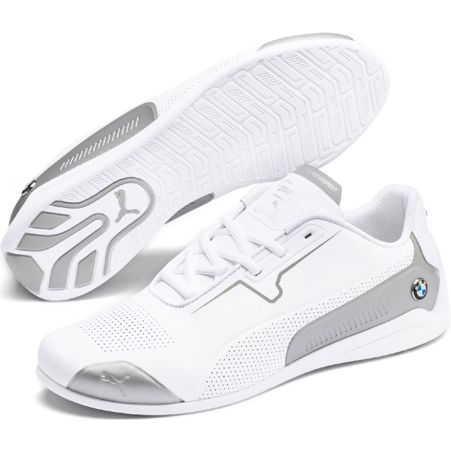 Puma BMW MMS Drift Cat 8 BLANCO/PLATA Walking | platanitos.com