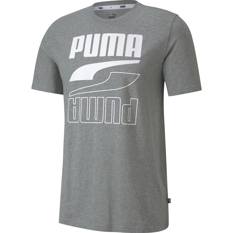 Puma Rebel Tee GRIS MEDIO Camisetas y polos deportivos