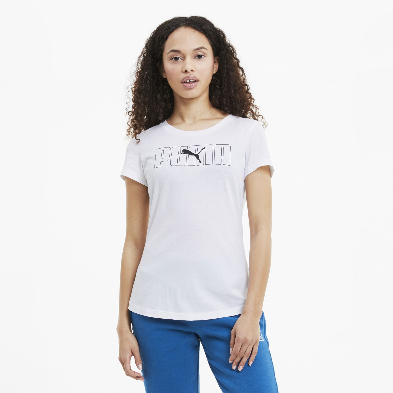 Puma Rebel Graphic Tee Blanco Polos