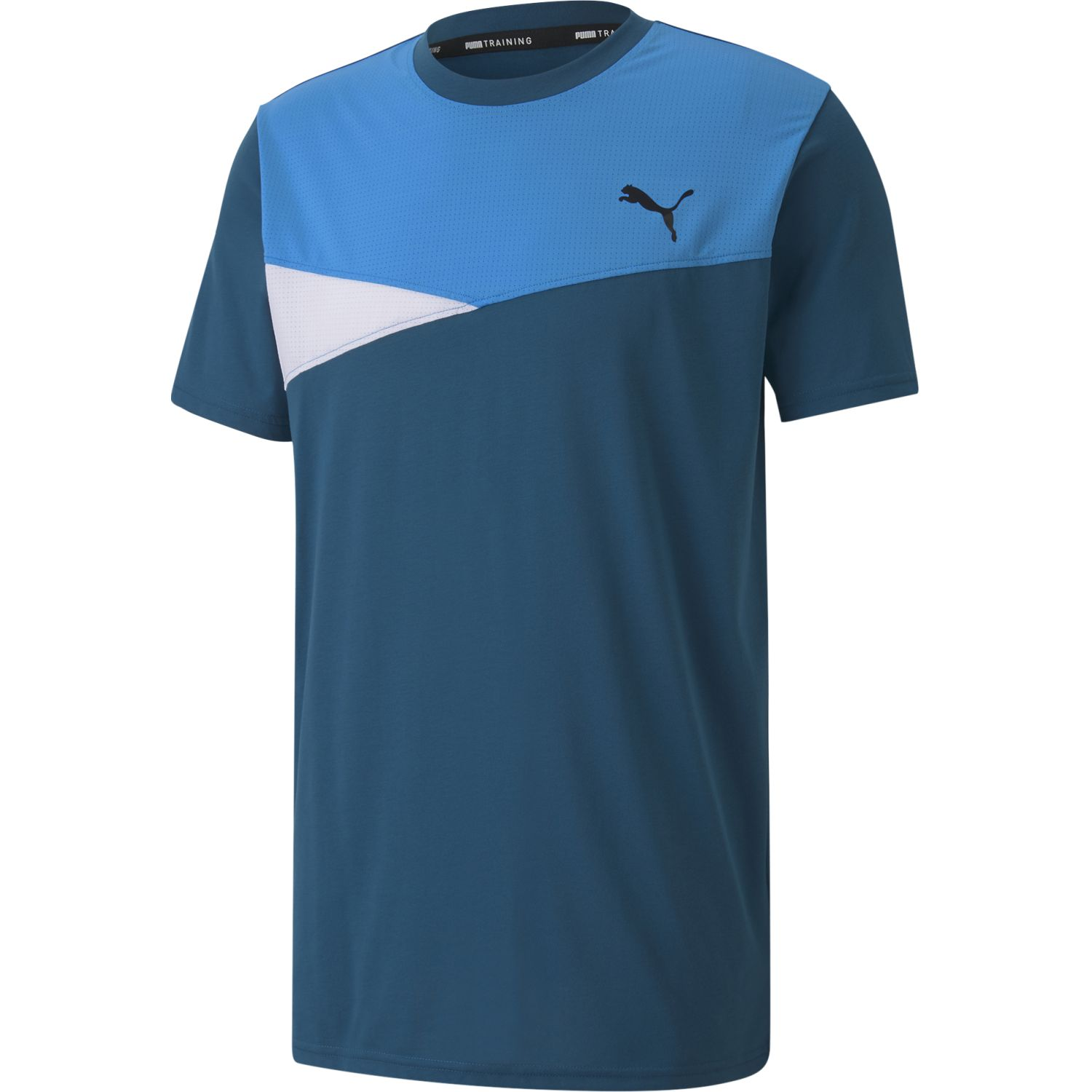Puma Train Color Block Short Sleeve Tee Azul Camisetas y polos deportivos