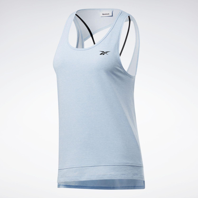Reebok Ts Ac+cotton Tank Celeste Camiseta sin mangas