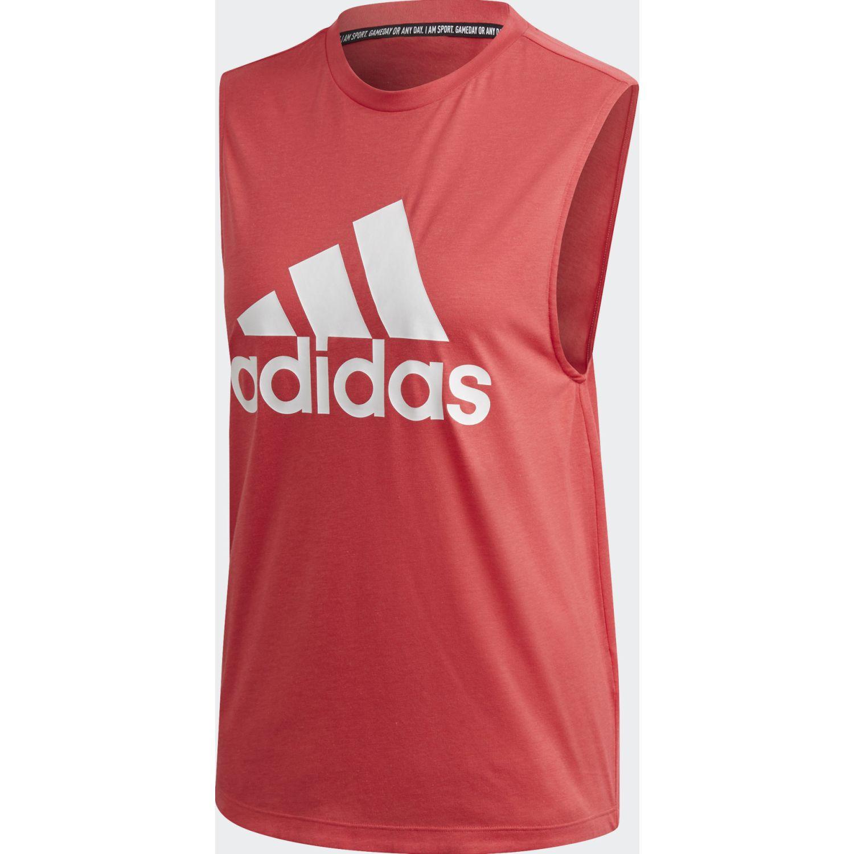 Adidas W Mh Bos Tank Rojo Camiseta sin mangas