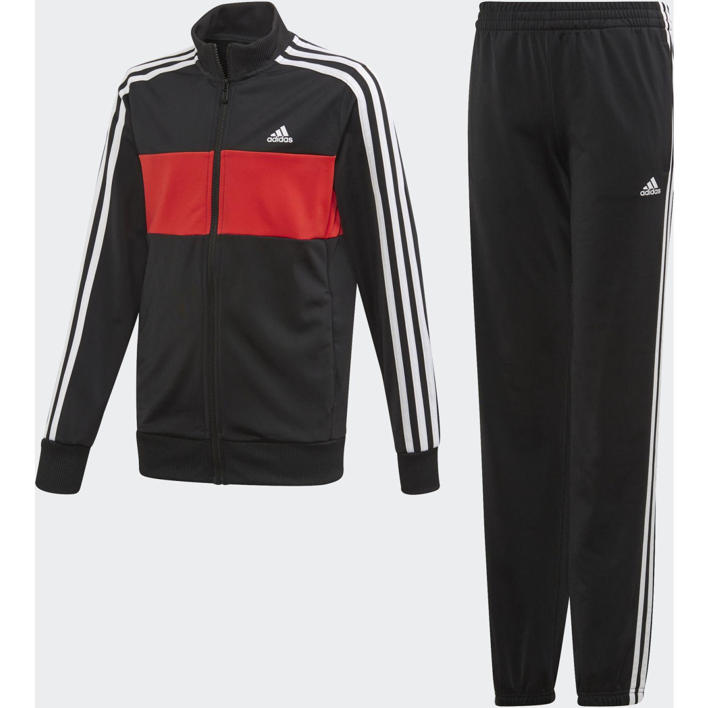 Adidas YB TS TIBERIO Negro / rojo Buzos Deportivos
